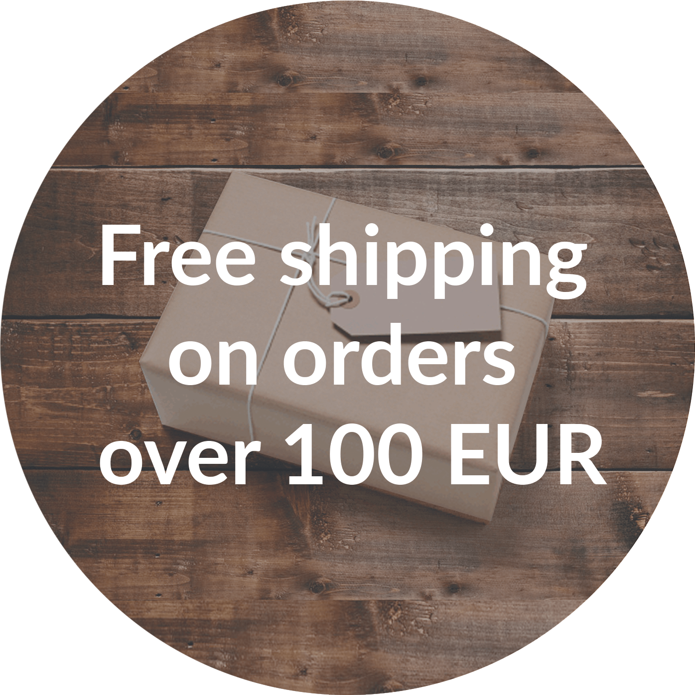 Free shipping on orders over 100 EUR